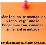 Técnico en sistemas de video vigilancia Programación cámaras ip e informática