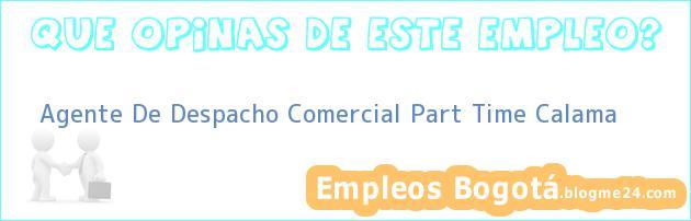Agente De Despacho Comercial Part Time Calama