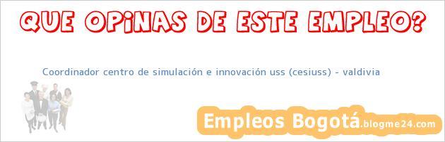 Coordinador centro de simulación e innovación uss (cesiuss) – valdivia