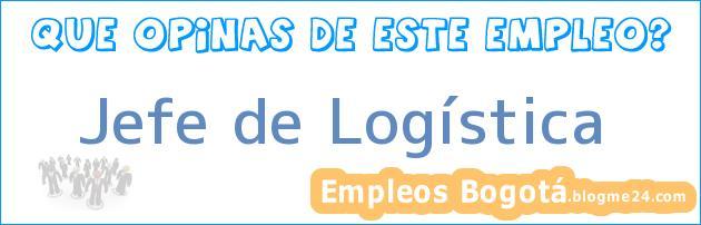 Jefe de Logística