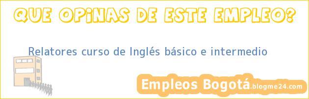 Relatores curso de Inglés básico e intermedio