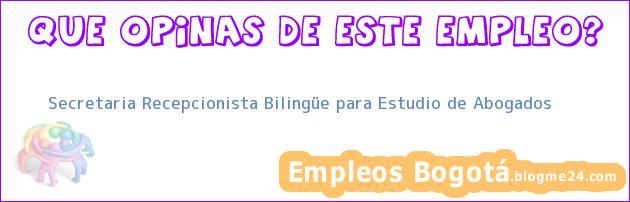 Secretaria Recepcionista Bilingüe para Estudio de Abogados