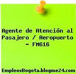 Agente de Atención al Pasajero / Aeropuerto – FM616