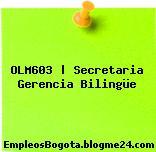 OLM603 | Secretaria Gerencia Bilingüe