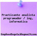 Practicante analista programador / ing. informatica