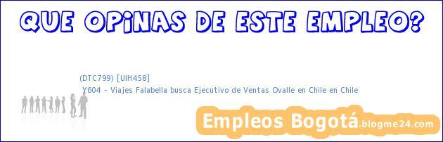(DTC799) [UIH458]   Y604 – Viajes Falabella busca Ejecutivo de Ventas Ovalle en Chile en Chile