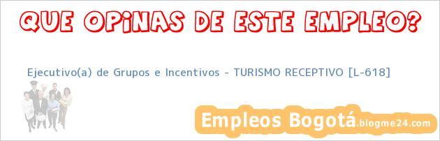 Ejecutivo(a) de Grupos e Incentivos – TURISMO RECEPTIVO [L-618]