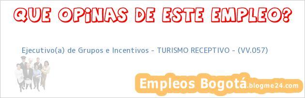 Ejecutivo(a) de Grupos e Incentivos – TURISMO RECEPTIVO – (VV.057)