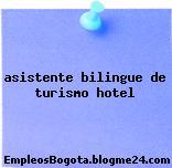 asistente bilingue de turismo hotel