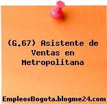 (G.67) Asistente de Ventas en Metropolitana