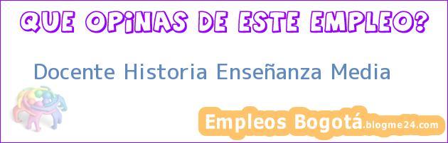 Docente Historia Enseñanza Media