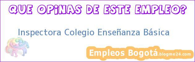 Inspectora Colegio Enseñanza Básica