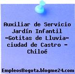 """Auxiliar de Servicio Jardín Infantil """"Gotitas de Lluvia"""" ciudad de Castro – Chiloé"""