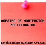 MAESTRO DE MANTENCIÓN MULTIFUNCION