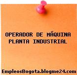 OPERADOR DE MÁQUINA PLANTA INDUSTRIAL