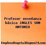 Profesor enseñanza básica iNGLES SAN ANTONIO