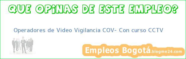Operadores de Video vigilancia COV Con curso CCTV
