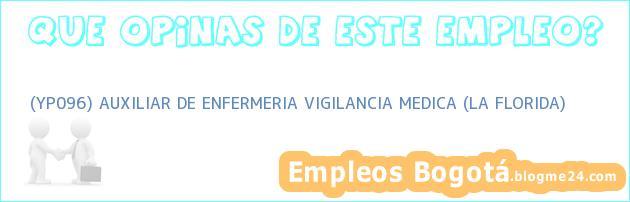 (YP096) AUXILIAR DE ENFERMERIA VIGILANCIA MEDICA (LA FLORIDA)