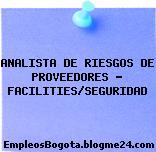 ANALISTA DE RIESGOS DE PROVEEDORES – FACILITIES/SEGURIDAD