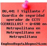DU.441 | Vigilante / Guardia de seguridad operador de CCTV (CERRILLOS) – Q-690 en Metropolitana en Metropolitana en Metropolitana