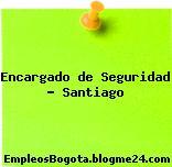 Encargado de Seguridad – Santiago