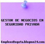GESTOR DE NEGOCIOS EN SEGURIDAD PRIVADA