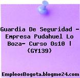 Guardia De Seguridad – Empresa Pudahuel Lo Boza- Curso Os10 | (GY139)