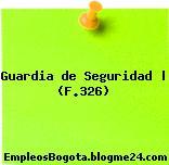 Guardia de Seguridad | (F.326)