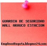 GUARDIA DE SEGURIDAD MALL ARAUCO ESTACION