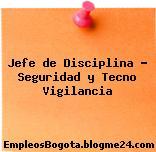 Jefe de Disciplina – Seguridad y Tecno Vigilancia