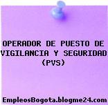 OPERADOR DE PUESTO DE VIGILANCIA Y SEGURIDAD (PVS)