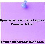 Operario de Vigilancia Puente Alto