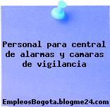 Personal para central de alarmas y camaras de vigilancia