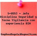 S-955] – Jefe Disciplina Seguridad y Tecno Vigilancia con experiencia BIM