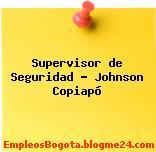 Supervisor de Seguridad – Johnson Copiapó